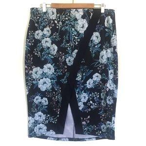 Torrid blue floral skirt, Torrid size 2.